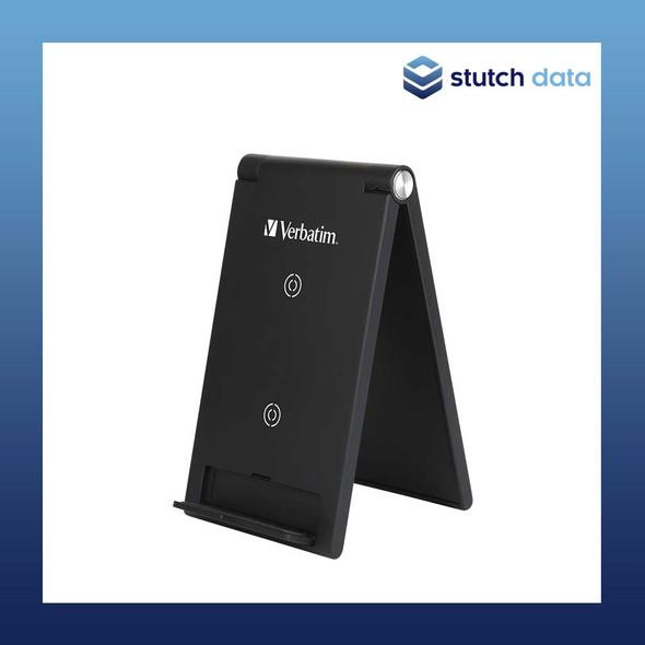 Image of Verbatim 10W Wireless Charging Stand (2 Coils) - Black 65945