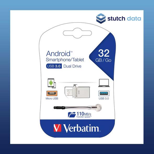 Image of Verbatim Store'n'Go OTG Micro USB 3.0 Drive 32GB 64936