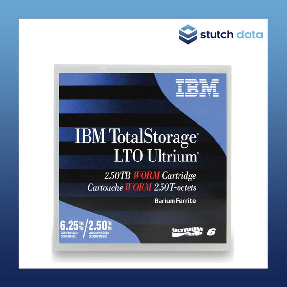 Image of IBM LTO6 Ultrium 6 WORM Tape Cartridge 00V7591 in product case