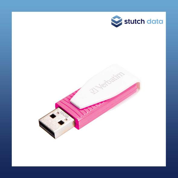 Image of Verbatim Store'n'Go USB 2.0 Drive Mini Swivel 16GB - Pink 49813