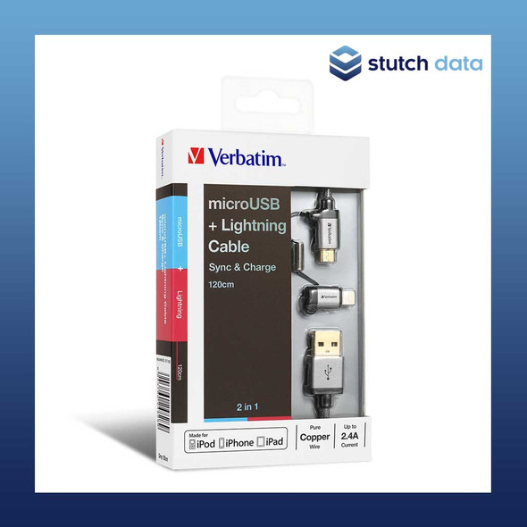Image of Verbatim Metallic Charge&Sync MicroUSB 120cm Cable - Grey 64705
