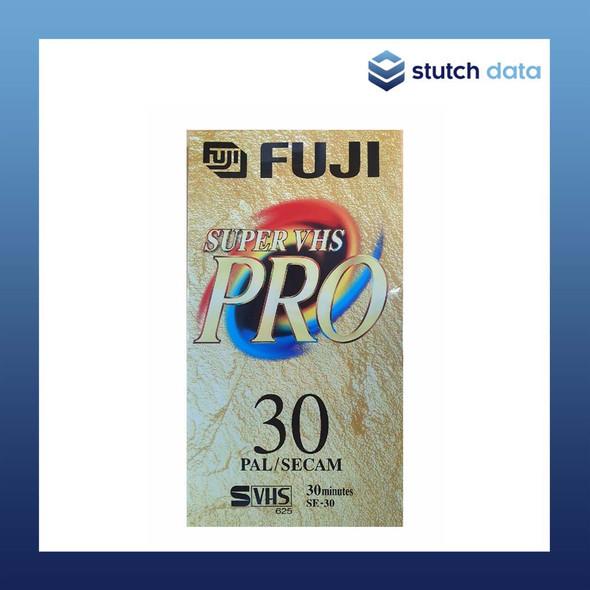 Fuji Super VHS PRO Video Cassette Tape 30min SE-30 Front