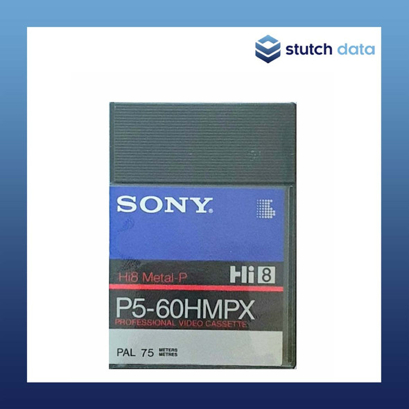 Sony Hi8 60min PAL 75m Professional Video Cassette P5-60HMPX