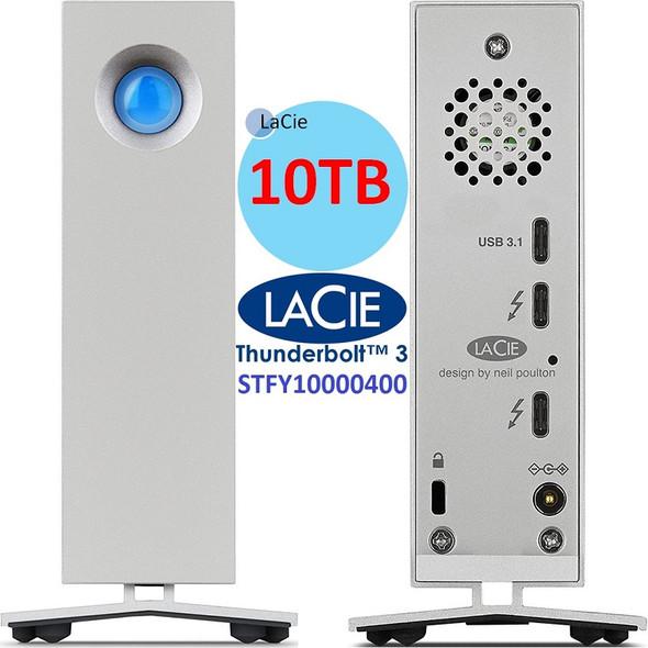 Lacie d2 Thunderbold 3 Professional Desktop Storage 10tb USB-C External Hard Drive