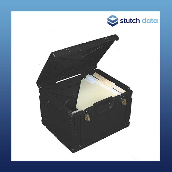 Image of Turtle Lockable Document Box Black single assembled 08-673112