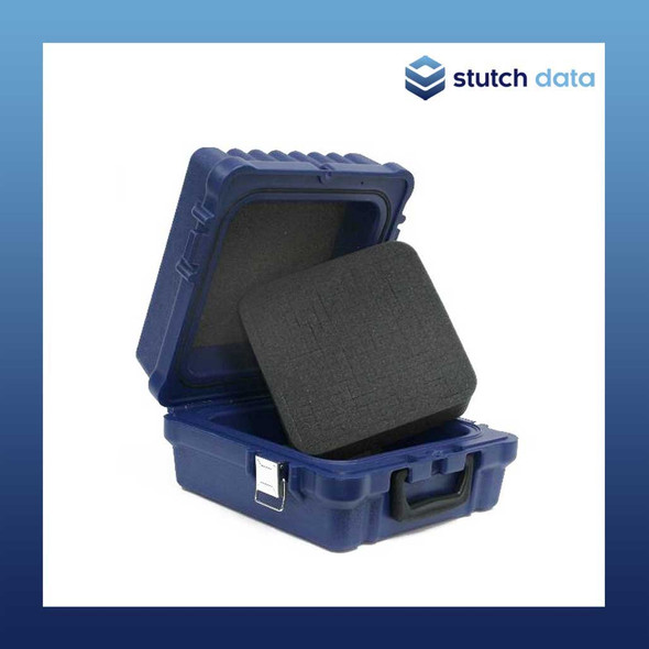 Image of Turtle Universal Blue Waterproof Case 09-677936 with foam