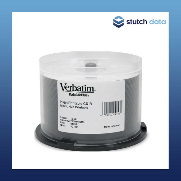Verbatim CD-R Azo White Wide Inkjet Printable 50 disc spindle 94755 700MB/80min