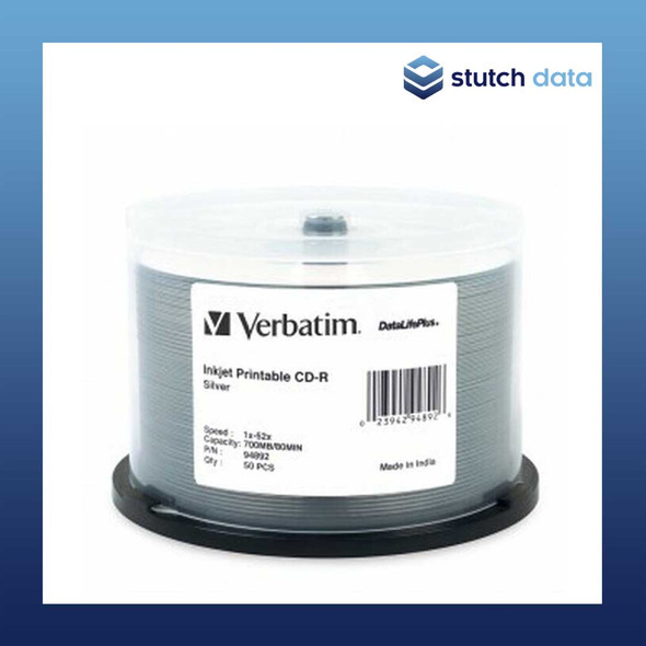 Verbatim CD-R Azo 50 Disc Spindle Silver Inkjet Printable 94892
