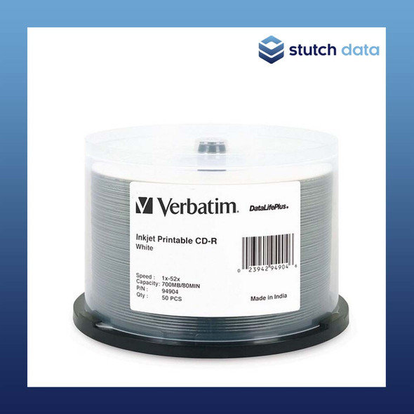 Verbatim CD-R Azo White Inkjet Printable 50 disc spindle 700mb/80min