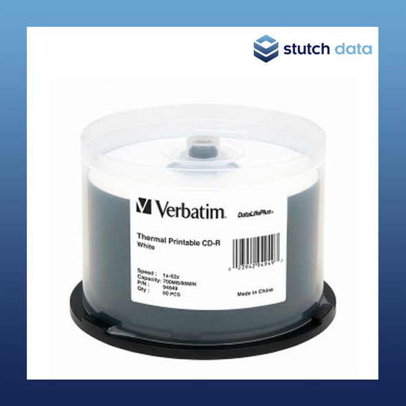 Verbatim CD-R Azo 50 Disc Spindle White Thermal Printable 94949