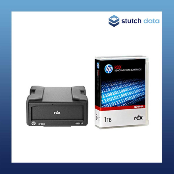 Image of HPE RDX USB 3.0 External Drive & 1TB Cartridge Bundle B7B69B
