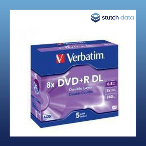 Verbatim DVD+R Dual Layer (DL) 5 Pack in jewel cases 43541