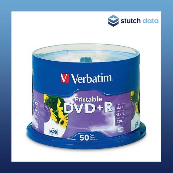 Verbatim DVD+R 50 Disc Spindle White Inkjet Printable 95136