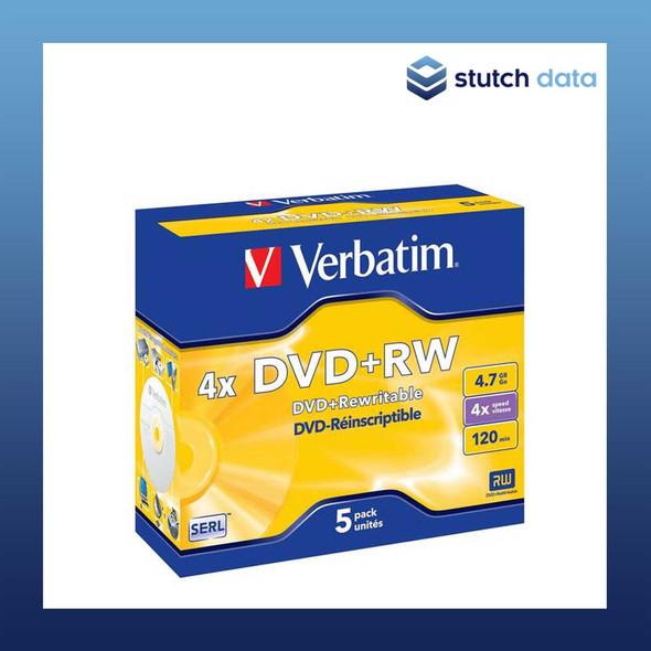 Verbatim DVD+RW 5 Pack in jewel cases 95043