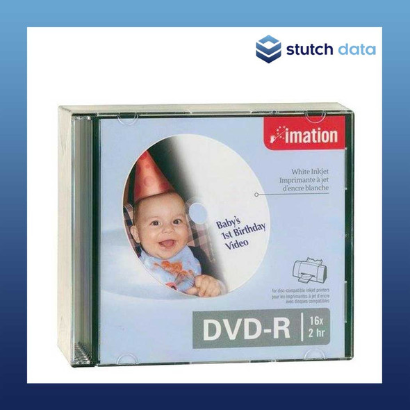 Image of Imation DVD-R White Inkjet Hub Printable 10 Pack in Jewel Cases