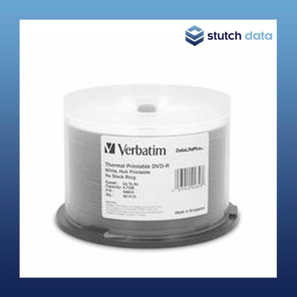 Image of Verbatim DVD-R 50 Disc Spindle White Wide Thermal Printable 94853