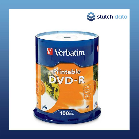 Verbatim DVD-R 100 Disc Spindle White Inkjet Printable 95153