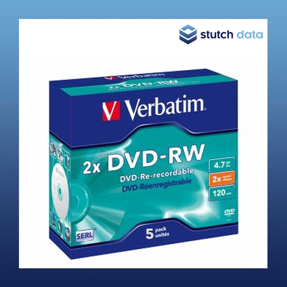 Verbatim DVD-RW 5 Disc in Jewel Cases 95044