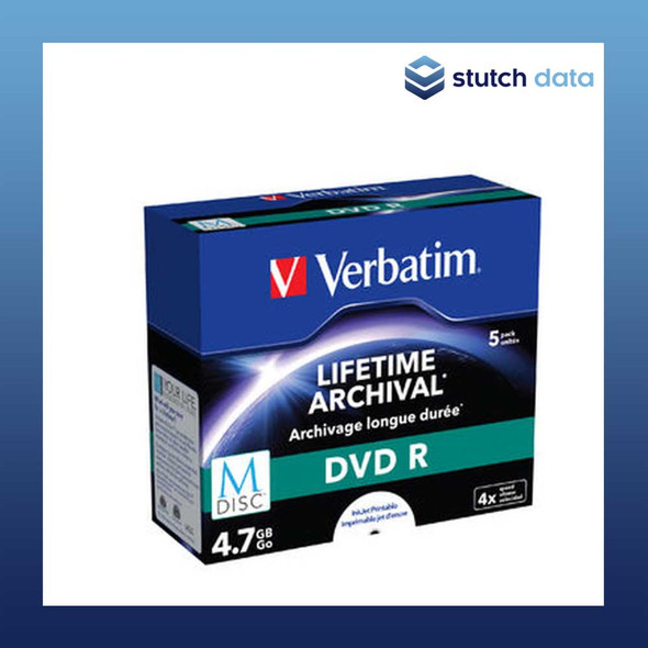 Verbatim M-Disc DVD R in Jewel Case White Inkjet Printable 43821