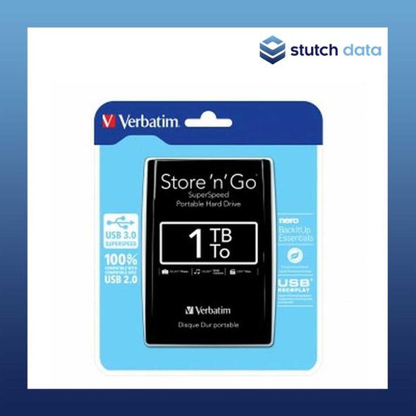 "Image of Verbatim 2.5"" Store'n'Go USB 3.0 1TB Black Hard Drive 53023"