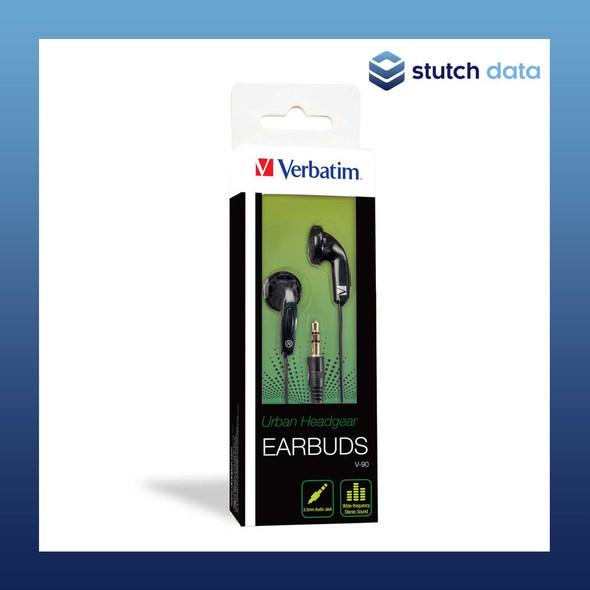 Image of Verbatim Earbud Headphone - Black 65062