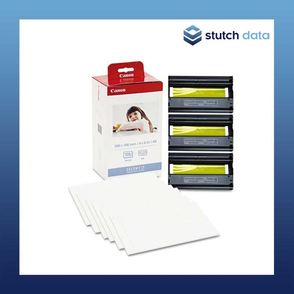 Image of Canon Selphy Postcard Paper & Ink Set 108 sheets KP-108IN