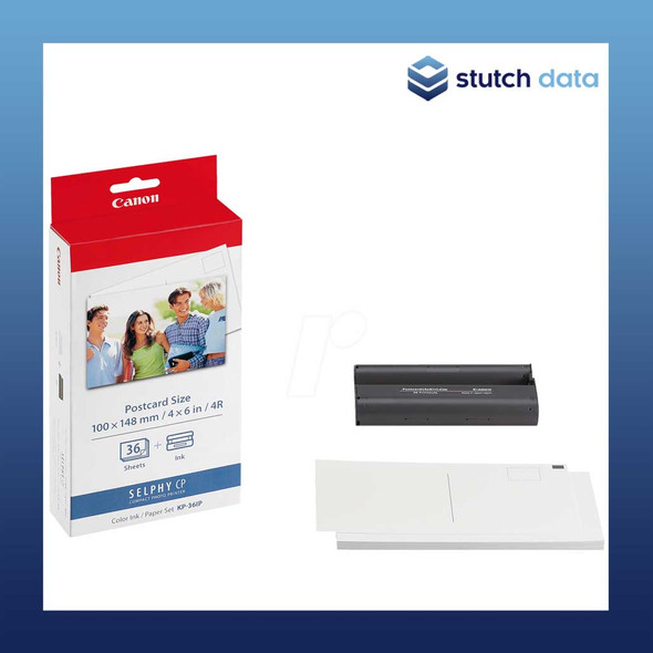 Image of Canon Selphy Postcard Paper & Ink Set - 36 Sheets KP-36IP