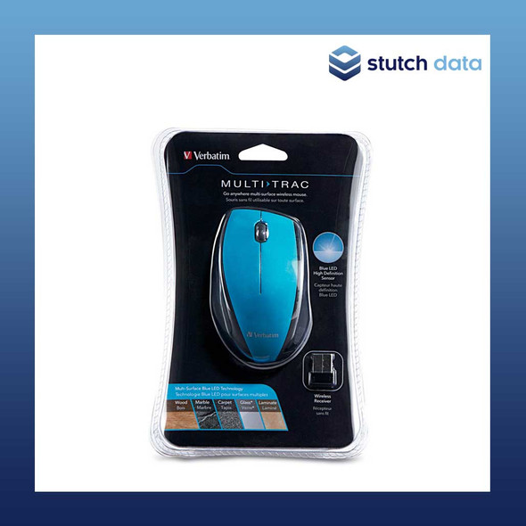 Verbatim Wireless Optical Multi-Trac Blue LED Mouse - Blue 97993