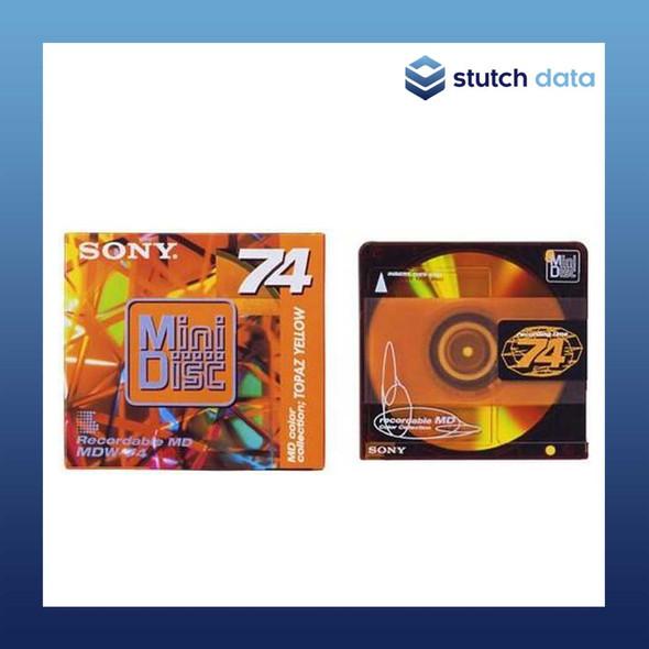 Image of Sony MiniDisc 74 topaz yellow MDW74EY