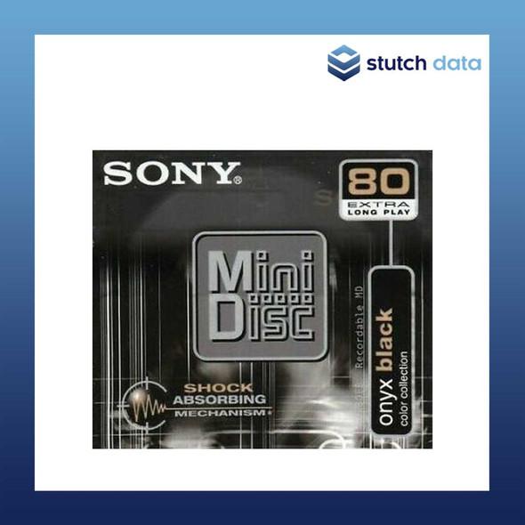 Image of Sony MiniDisc 80 onyx black MDW80EB