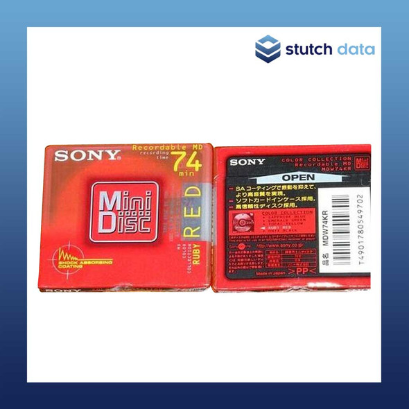 Image of Sony MiniDisc 74 ruby red MDW74KR