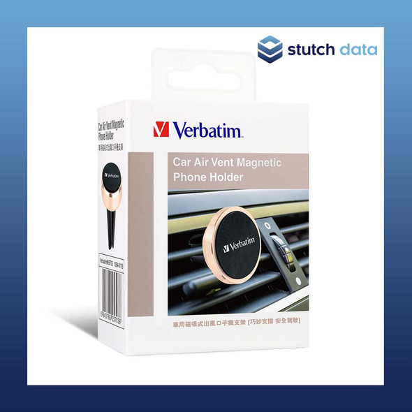 Verbatim Magnetic Car Air Vent Phone Holder - Gold/Black 65703