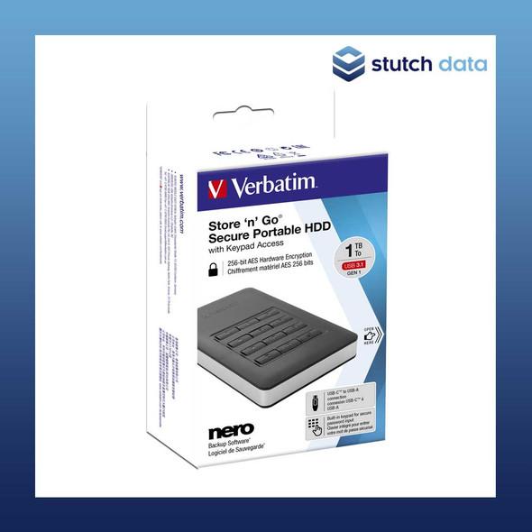 "Verbatim 2.5"" USB 3.1 Store'n'Go Secure HDD w/Keypad Access 53401"