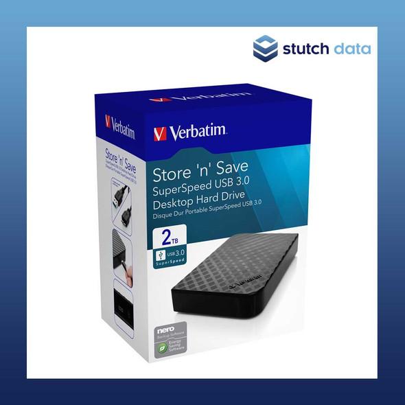 "Verbatim 3.5"" USB 3.0 Store'n'Save Desktop HDD Grid Design 2TB 47683"