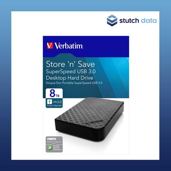 "Verbatim 3.5"" USB 3.0 Store'n'Save Desktop HDD Grid Design 8TB 47687"