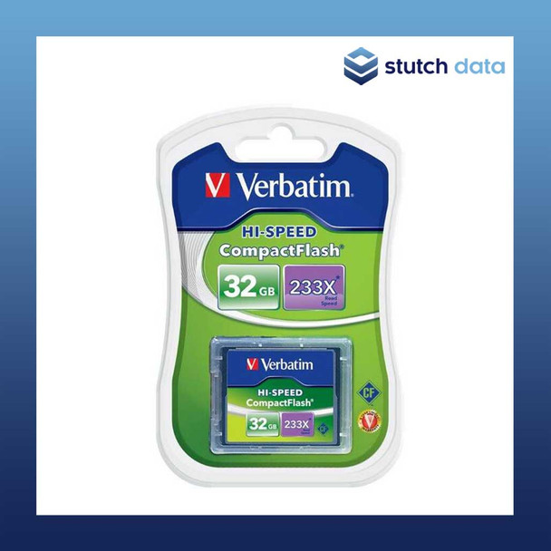 Verbatim 32GB Compact Flash CF Card 233x speed 62865