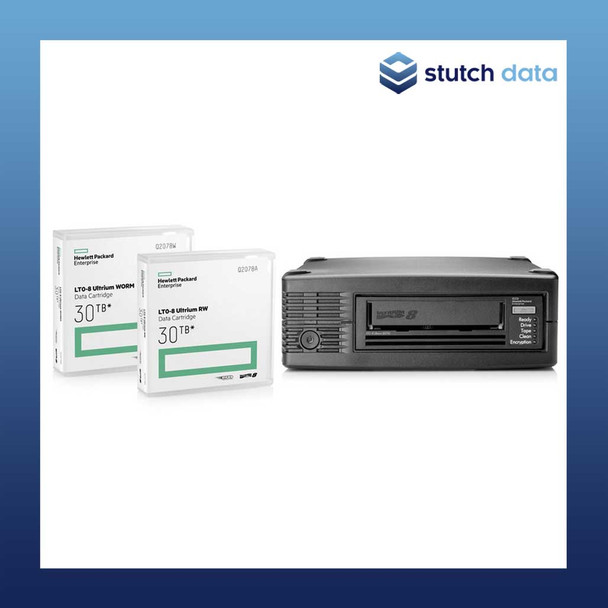 Image of HPE LTO-8 30750 External SAS Tape Drive BC023A