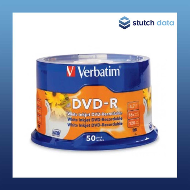 Verbatim DVD-R 50 Disc Spindle White Inkjet Printable 95137