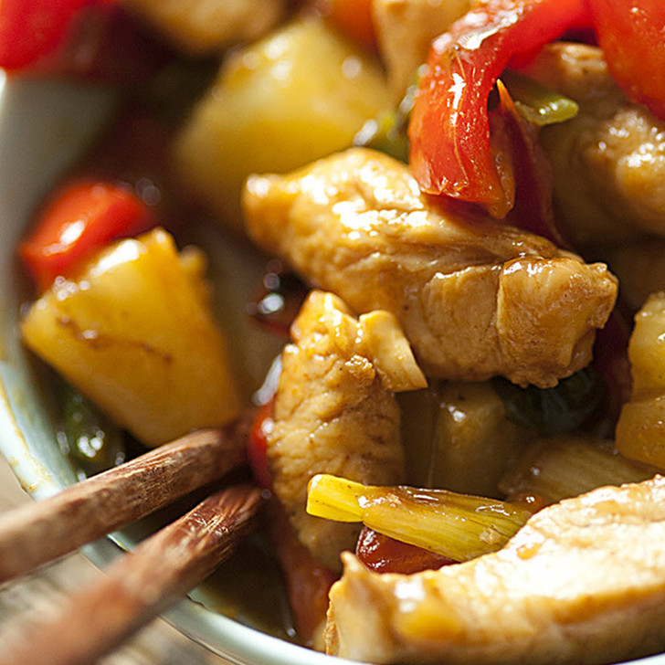Pineapple Chicken in the Wok