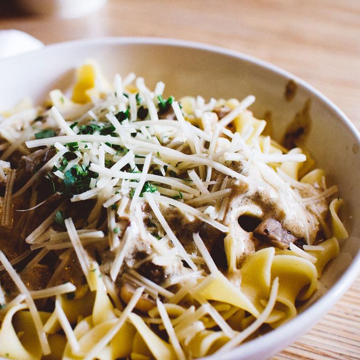 Mushroom and Cauliflower Pasta Bake