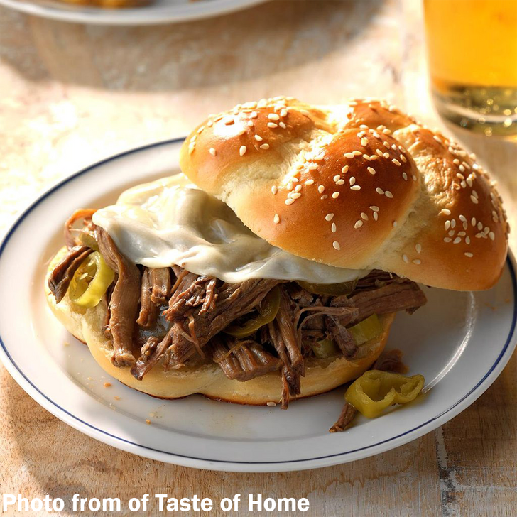 Shredded Beef Beer Sandwiches