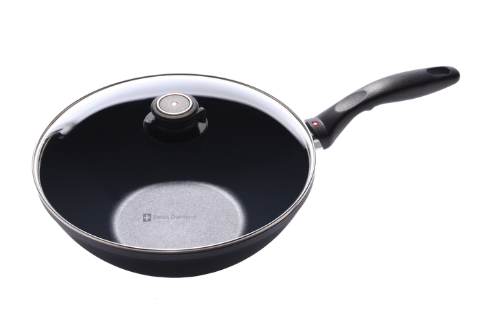 """11"""" Nonstick Induction Wok with Lid 