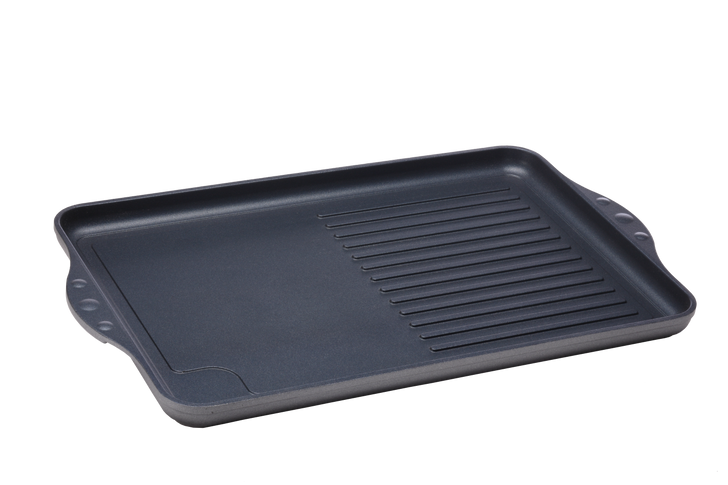 Nonstick Double-Burner Grill/Griddle Combo   HD Classic