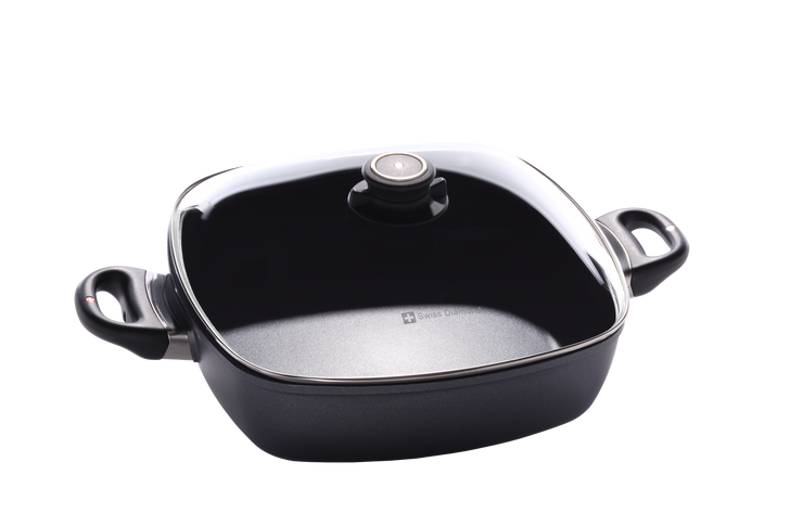 "5 Qt (11"" x 11"") Nonstick Square Casserole with Lid 