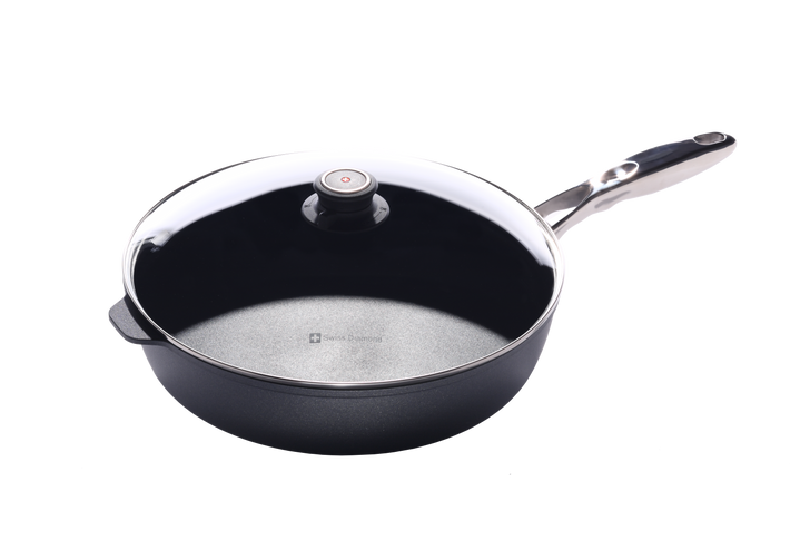 """5.8 Qt (12.5"""") Nonstick Saute Pan with Lid & Stainless Steel Handle 