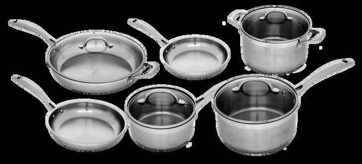 Stainless 10 Piece Complete Kitchen Set | Premium Steel