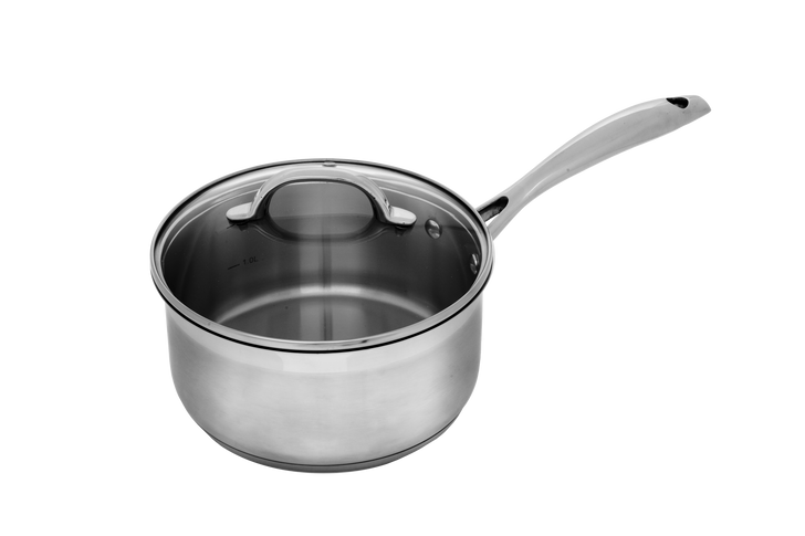 """2.1 Qt (7"""") Stainless Saucepan with Lid 
