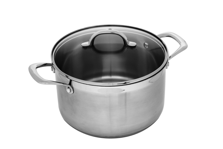 """5.9 Qt (9.5"""") Stainless Dutch Oven with Lid   Premium Steel"""