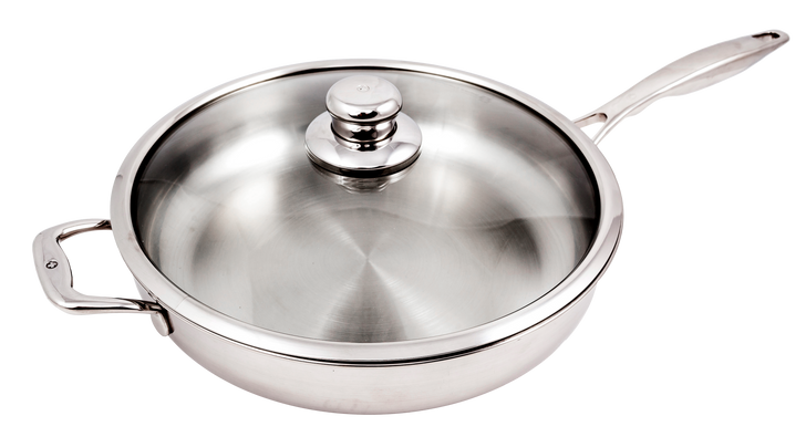 "12.5"" (5.3Qt) Stainless Saute Pan with Lid 