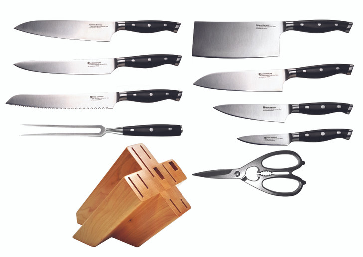 Complete Knife Block 10 Piece Set